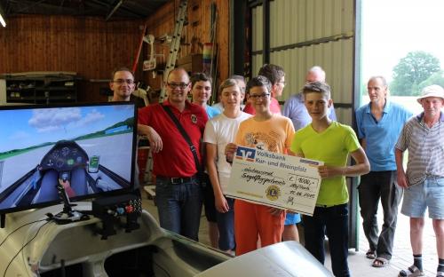 Spende für Flugsimulator Segelflugsportverein Haßloch